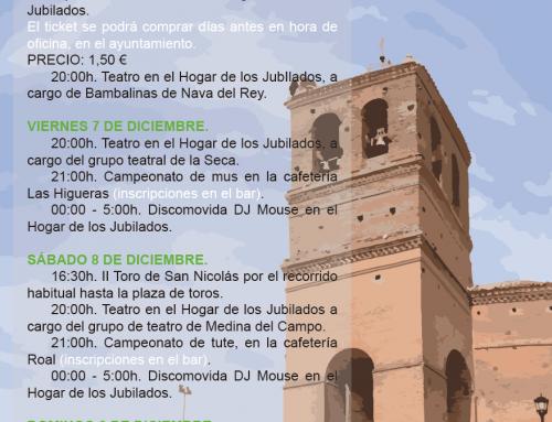Programa de la Festividad de San Nicolás de Bari 2018
