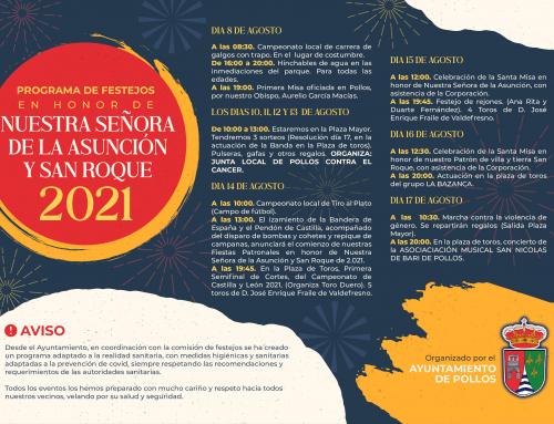 Programación de Nuestras Fiestas Patronales San Roque 2021
